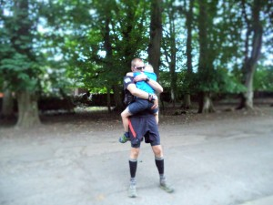 An emotional reunion with Katie & Adam after 59 miles and 20hrs 1min
